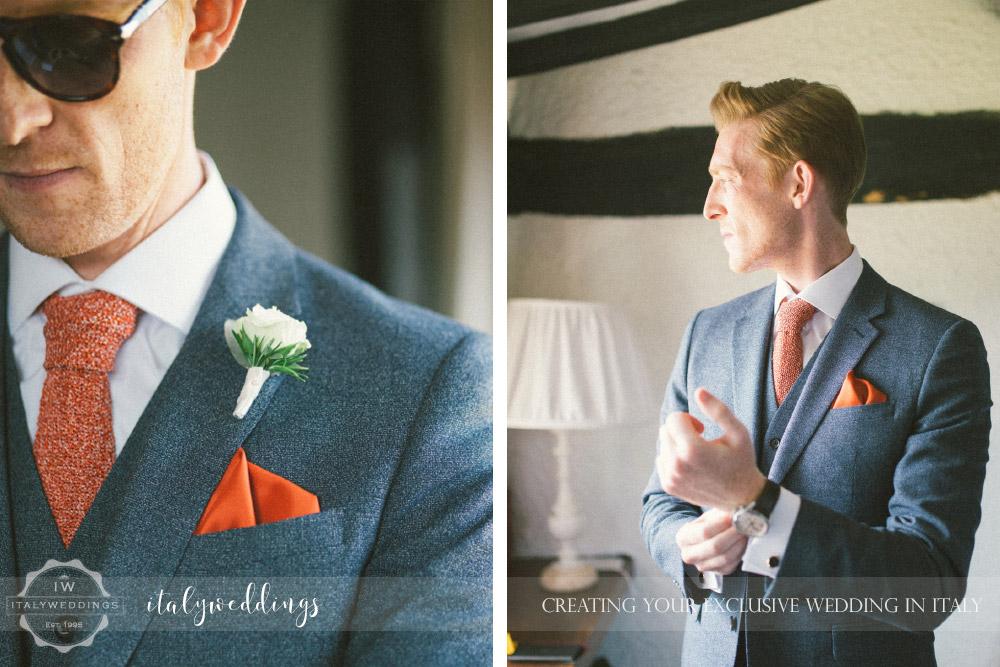 Ulignano wedding blessing groom