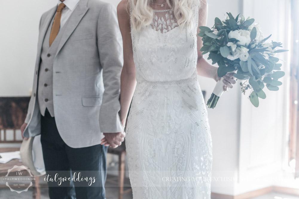 Ulignano wedding blessing bride