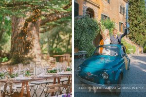 Ulignano wedding blessing Prosecco Car