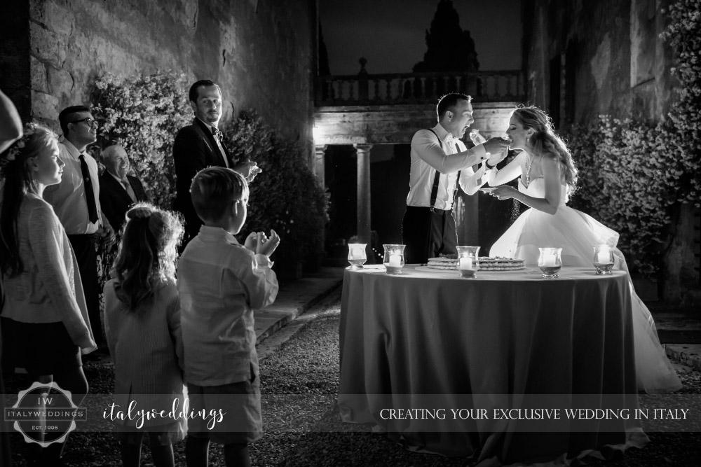 Blessing in Stomennano Tuscany cake