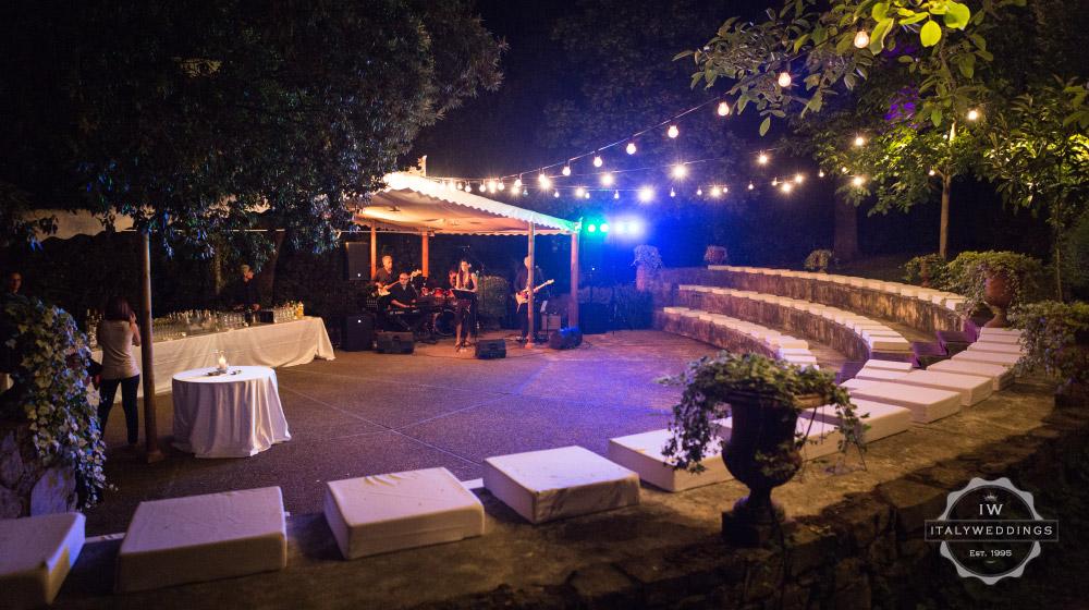 Wedding villa Piazzole Florence amphitheatre