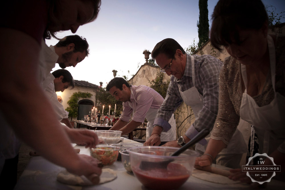 Wedding villa Piazzole Florence pizza night