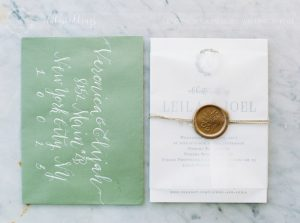 Stylish wedding Pienza Val D'Orcia printed material