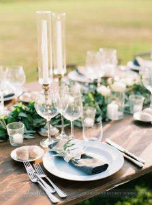 Stylish wedding Pienza Val D'Orcia mise en place