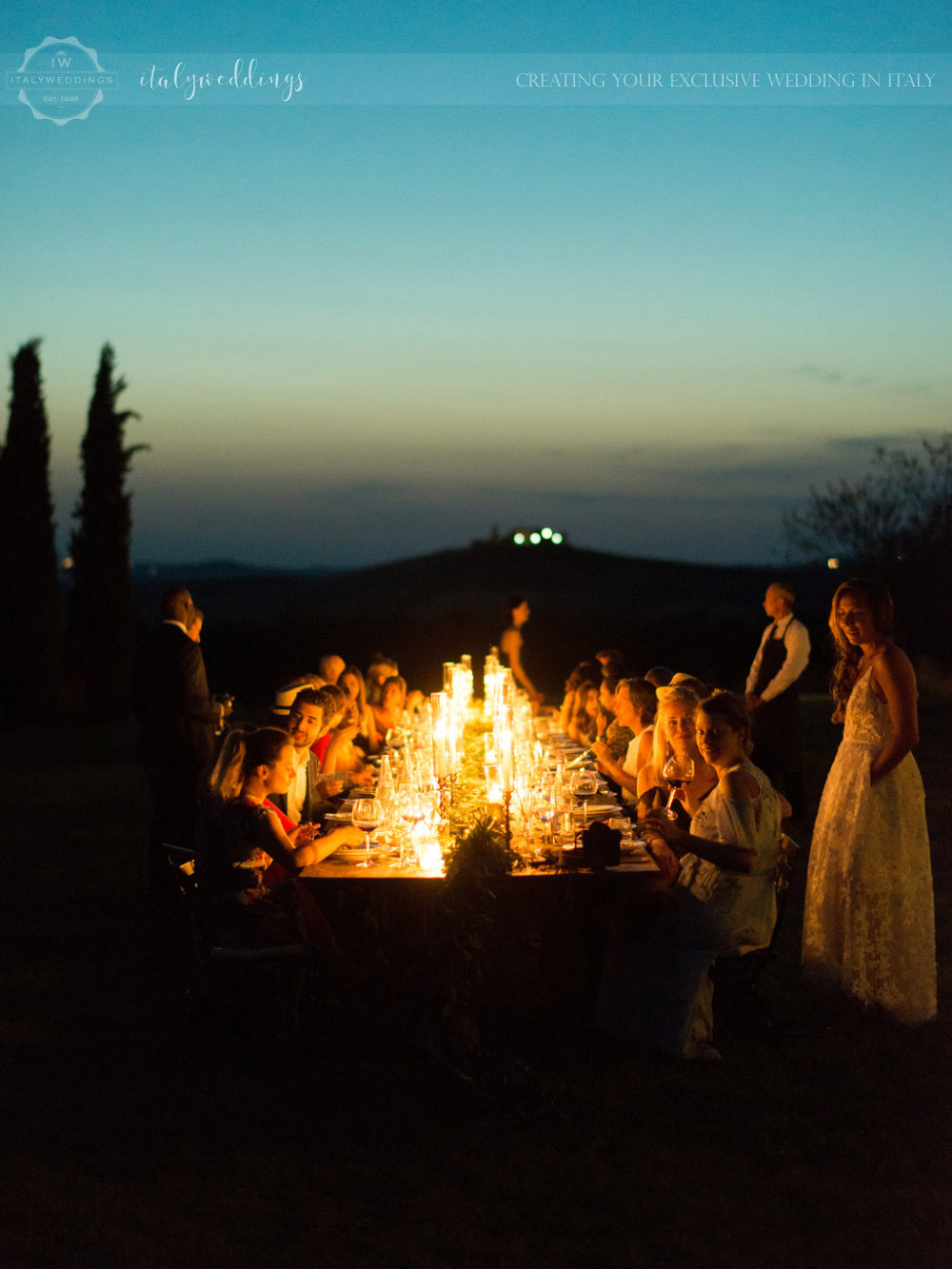 Stylish wedding Pienza Val D'Orcia dinner table