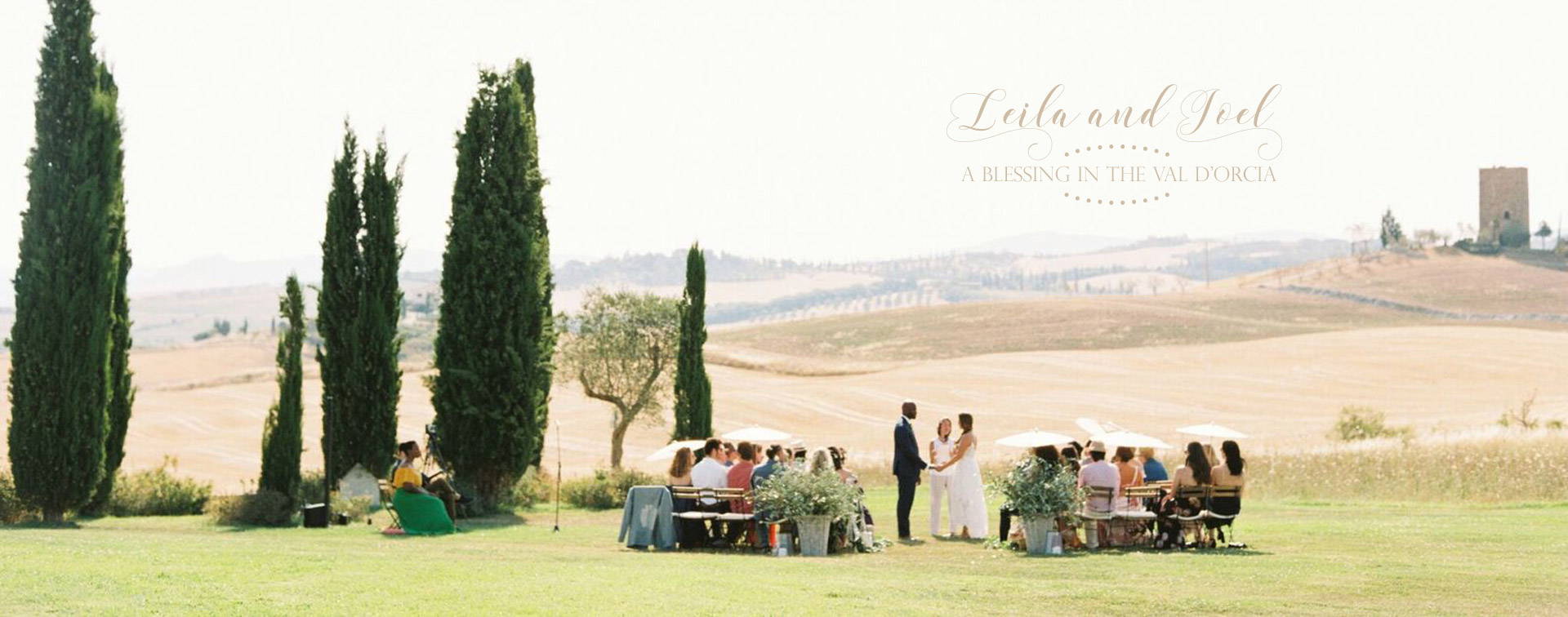 Stylish wedding Pienza Val D'Orcia blessing