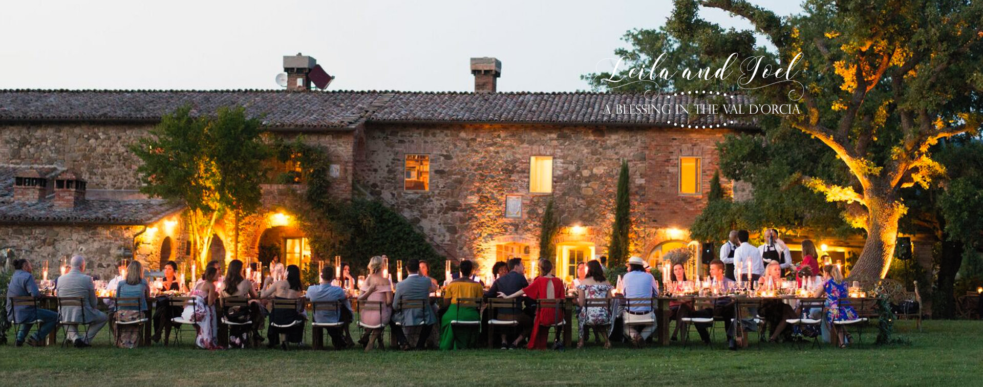 Stylish wedding Pienza Val D'Orcia villa lighting