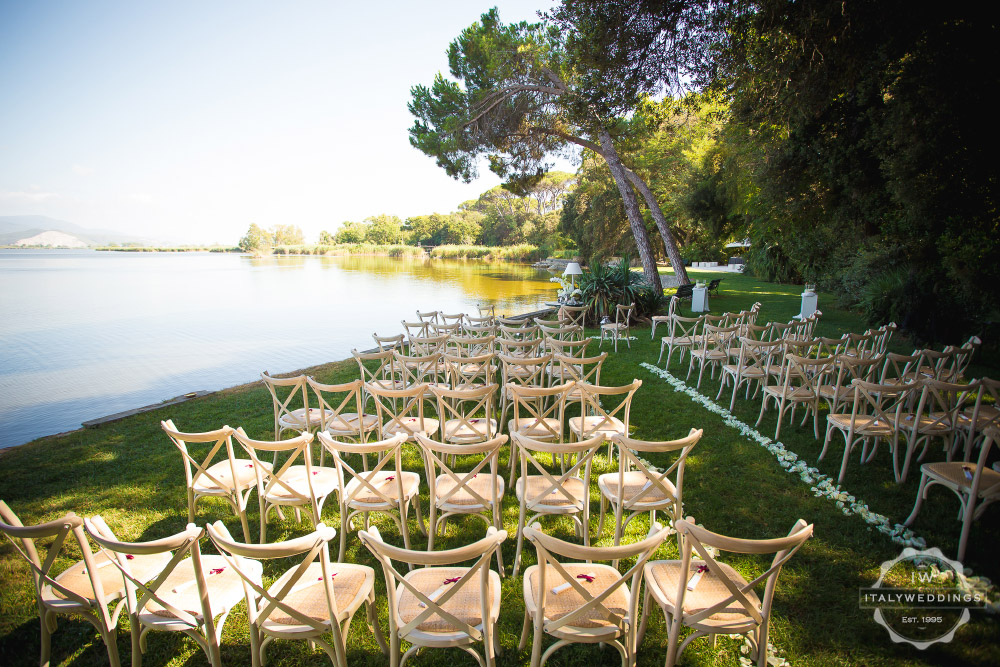 Tuscany villa on lake wedding venue