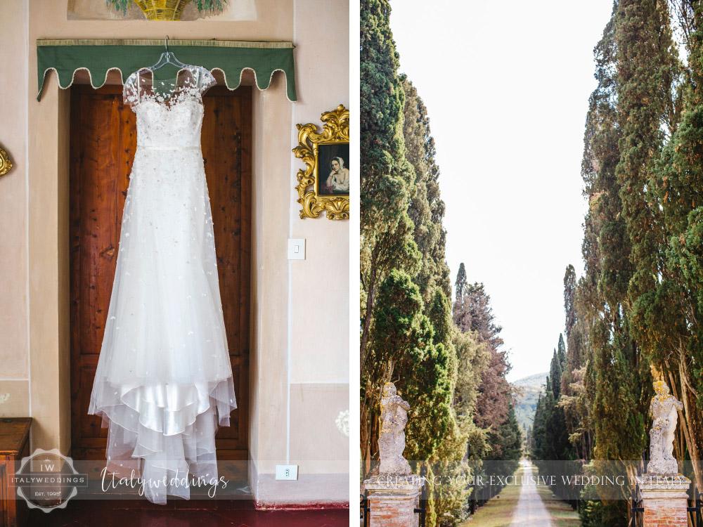 Symbolic blessing at Borgo Stomennano Tuscany