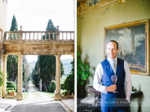 Symbolic blessing at Borgo Stomennano Tuscany bouquets