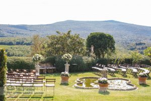 Symbolic blessing at Borgo Stomennano Tuscany ceremony