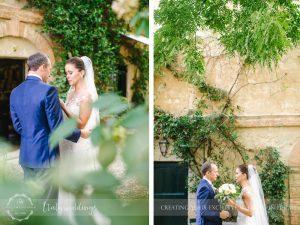 Symbolic blessing at Borgo Stomennano Tuscany first look