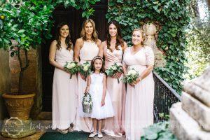 Symbolic blessing at Borgo Stomennano Tuscany bridal party