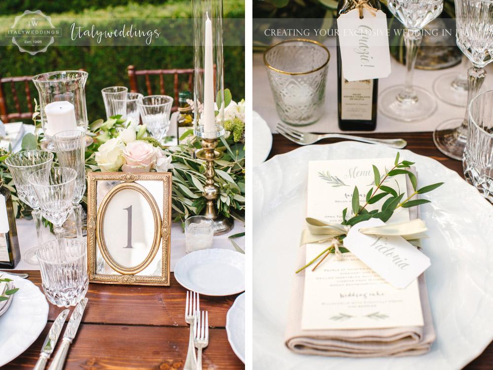 Symbolic blessing at Borgo Stomennano table