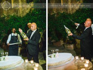 Symbolic blessing at Borgo Stomennano cake