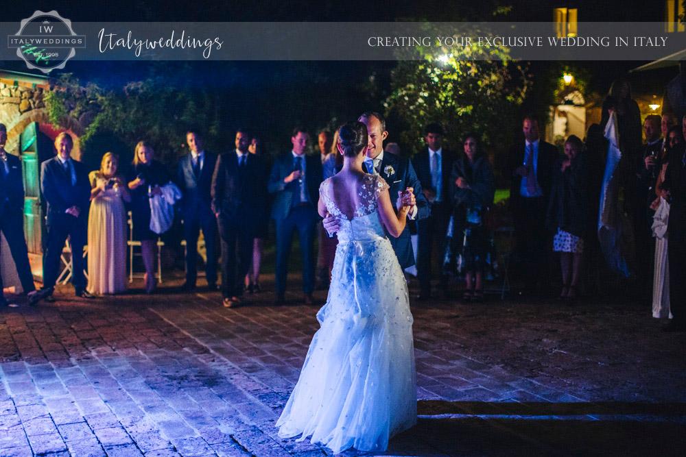 Symbolic blessing at Borgo Stomennano first dance