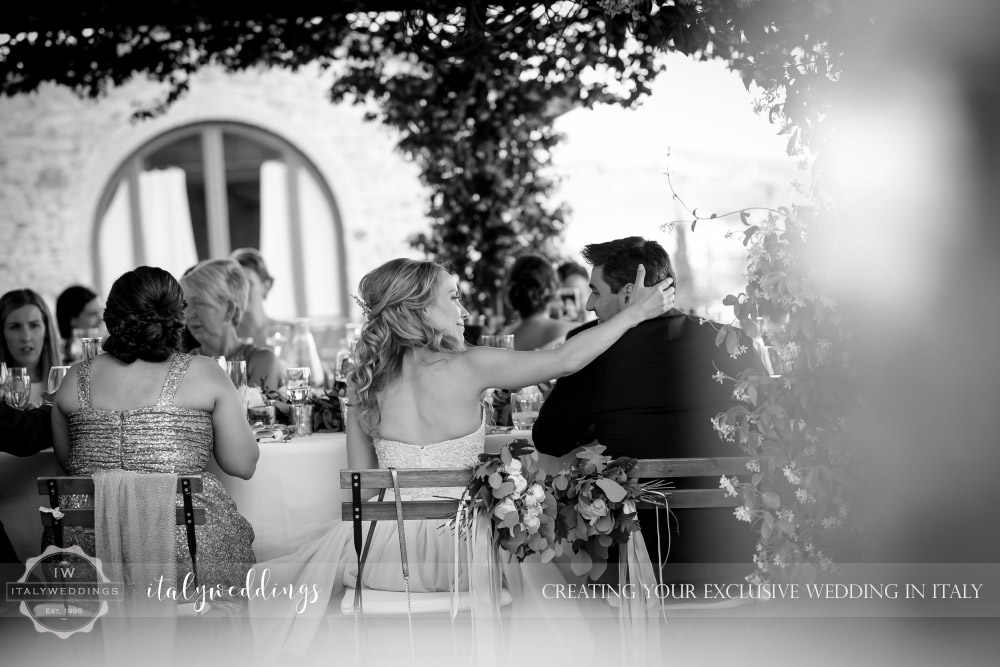 Wedding blessing Tuscany Italy