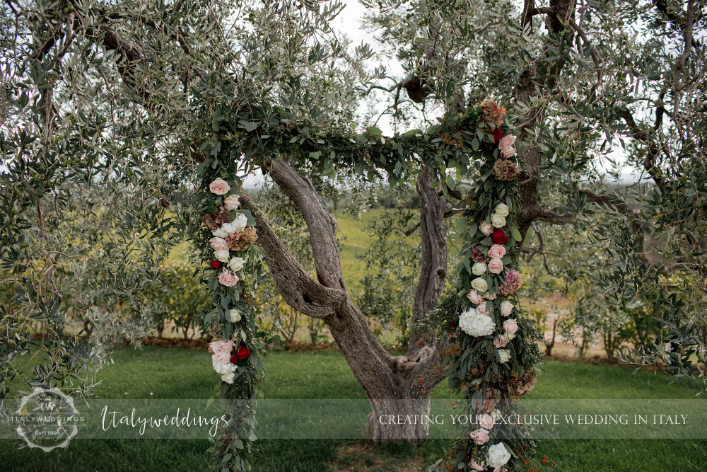 Wedding blessing Chianti Tuscany Italy