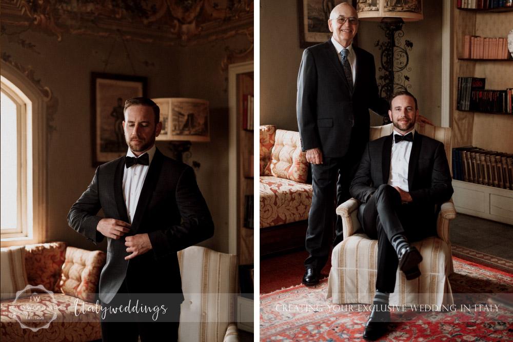 Stomennano wedding Tuscany groom portrait