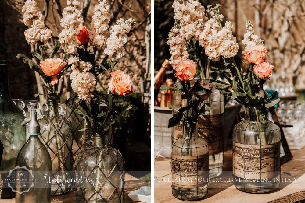 Stomennano wedding Tuscany garden blessing