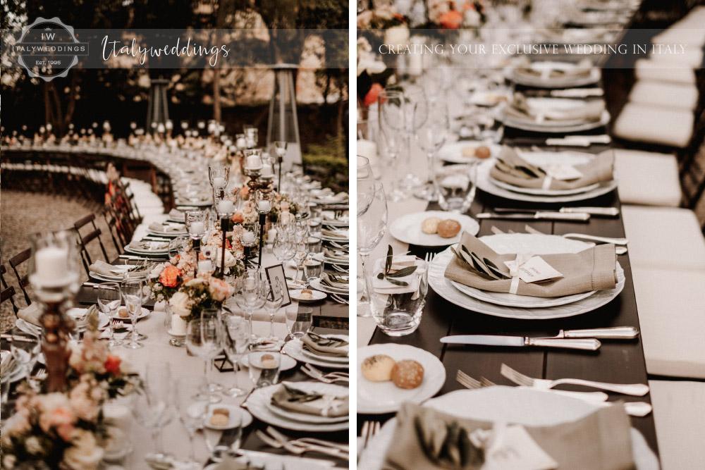 Stomennano wedding Tuscany rustic table