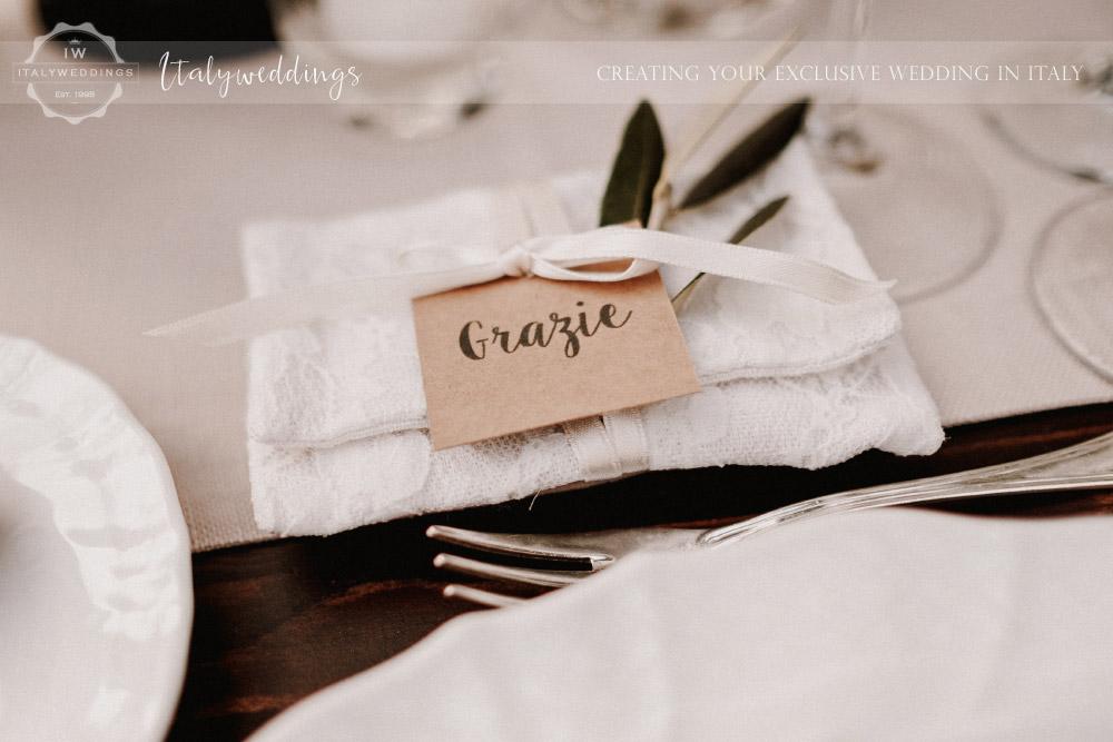 Stomennano wedding Tuscany favors