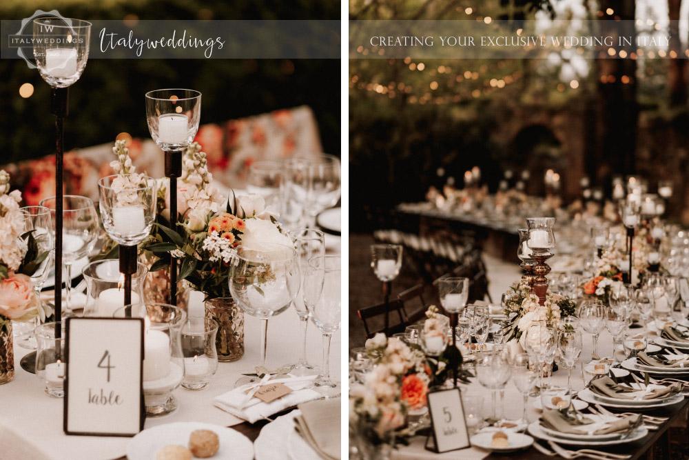 Stomennano wedding Tuscany long table lighting