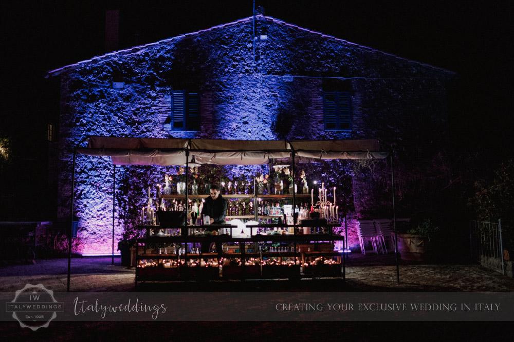 Stomennano wedding Tuscany Open Bar