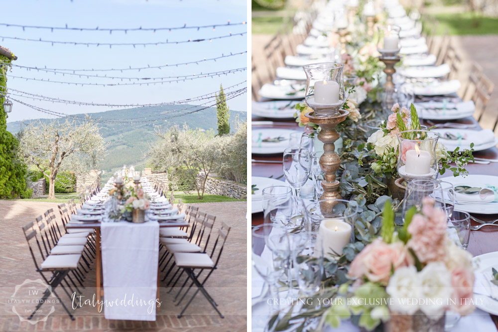 Wedding Bastia Creti Umbria meal table