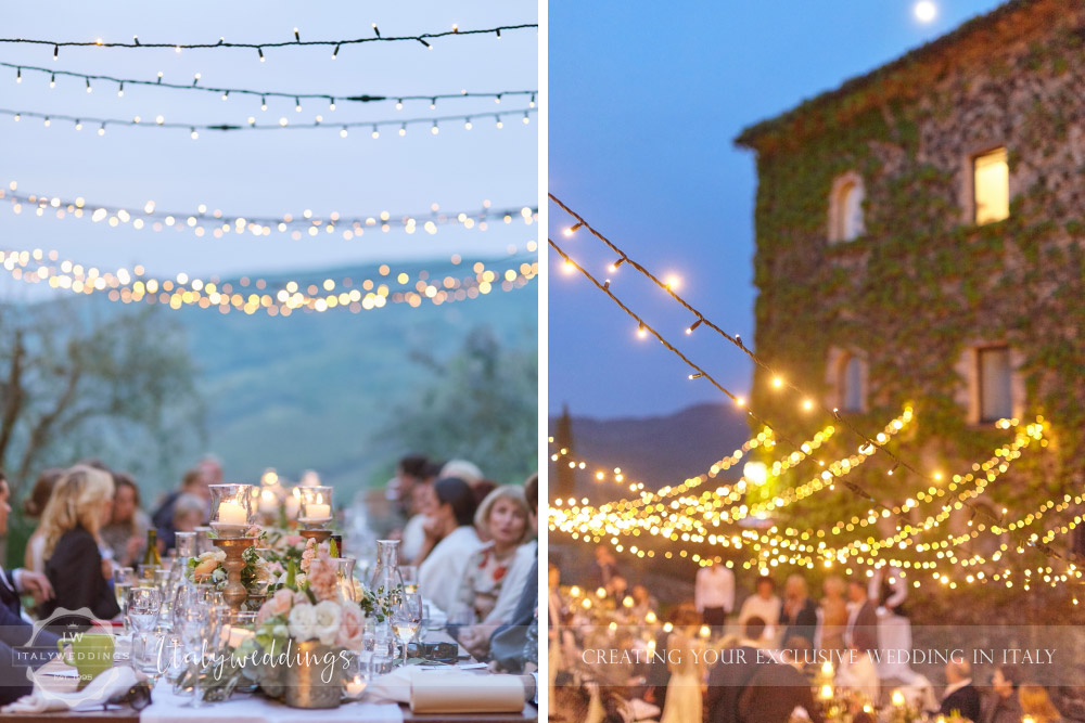 Wedding Bastia Creti Umbria fairy lights