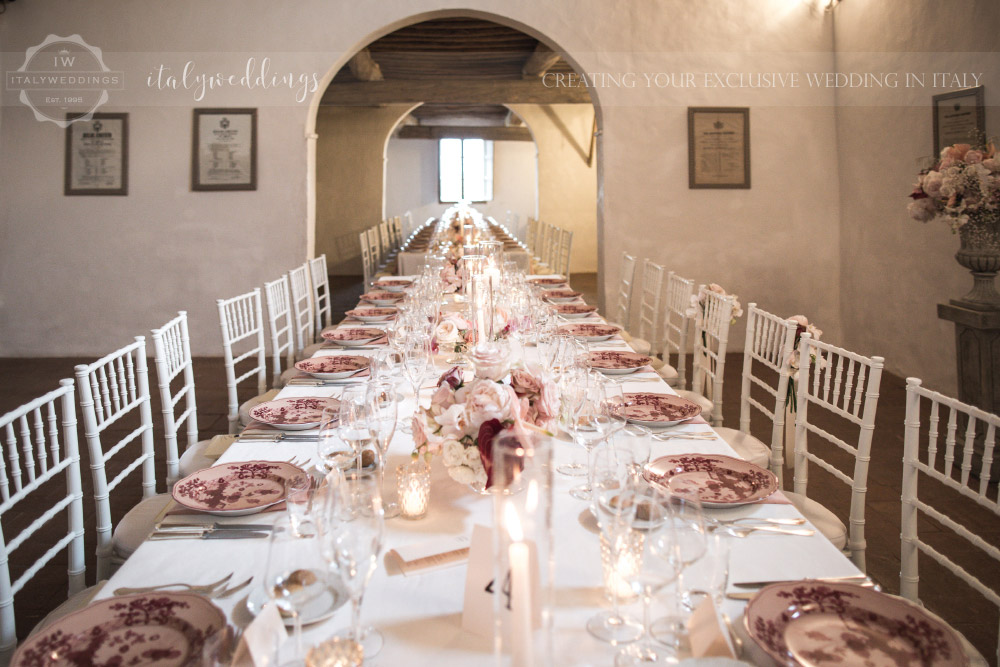Wedding Stomennano Monteriggioni Siena table design
