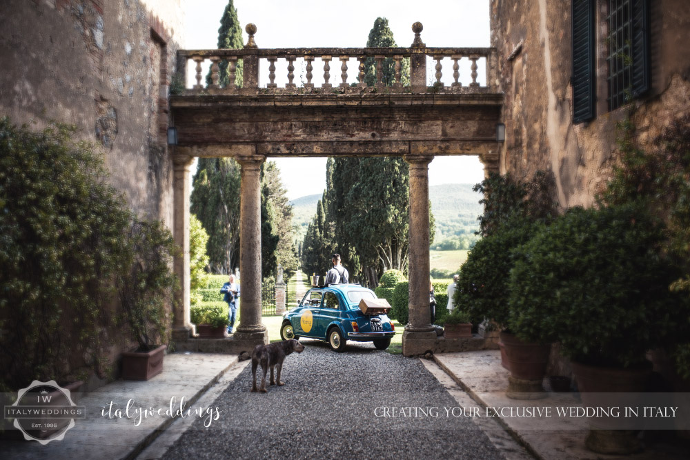 Wedding Stomennano Monteriggioni Siena Prosceeo Car