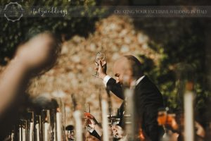 intimate wedding blessing in the Maremma Tuscany