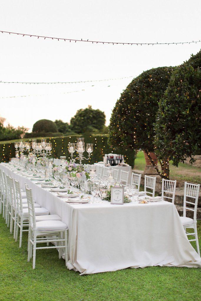 Luxury wedding blessing with secret garden lighting Tuscany