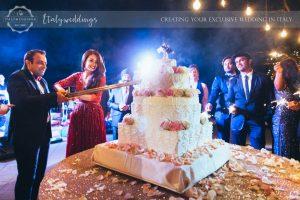 iced Italian wedding cake