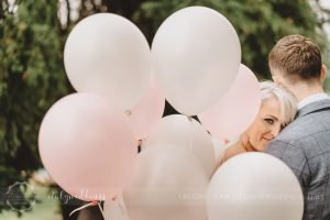 Civil wedding Montone reception Borgo Umbria pink balloons