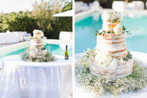 Naked Italian wedding cake