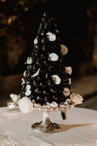 Croquembouche Italian wedding cake
