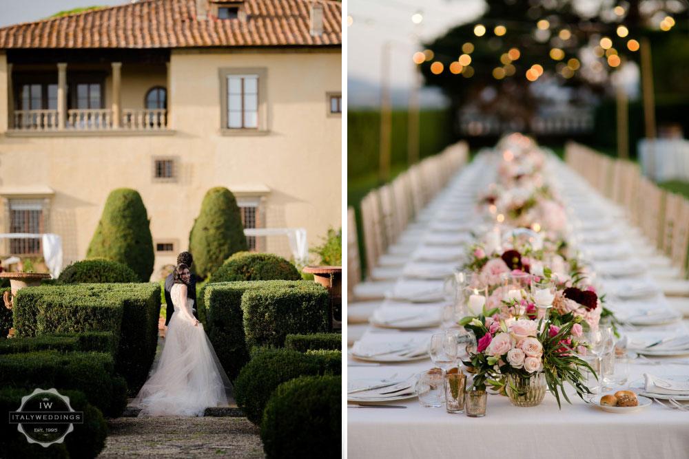 Villa Gamberaia luxury event location Florence