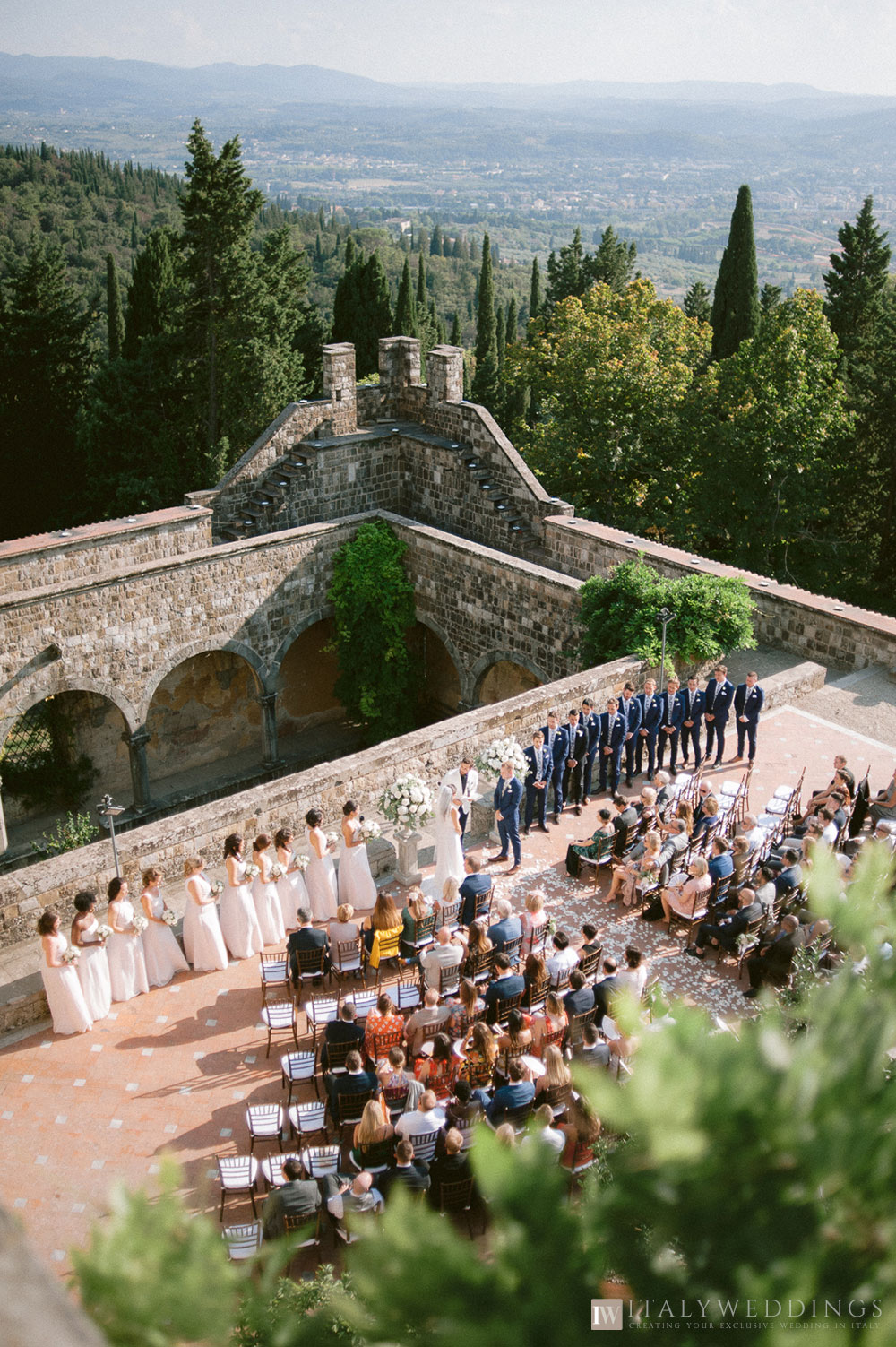 Castle wedding Florence Vincigliata