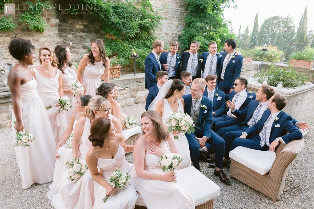 Castle wedding Florence Vincigliata