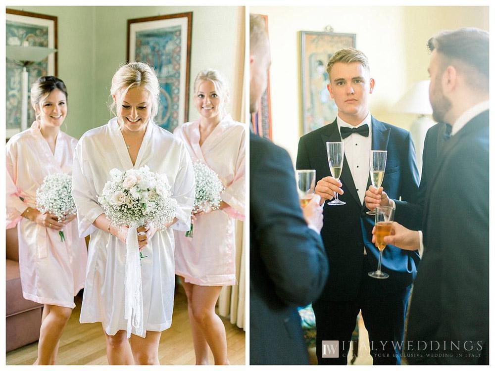 Formal elegant villa lakeside Tuscan civil wedding