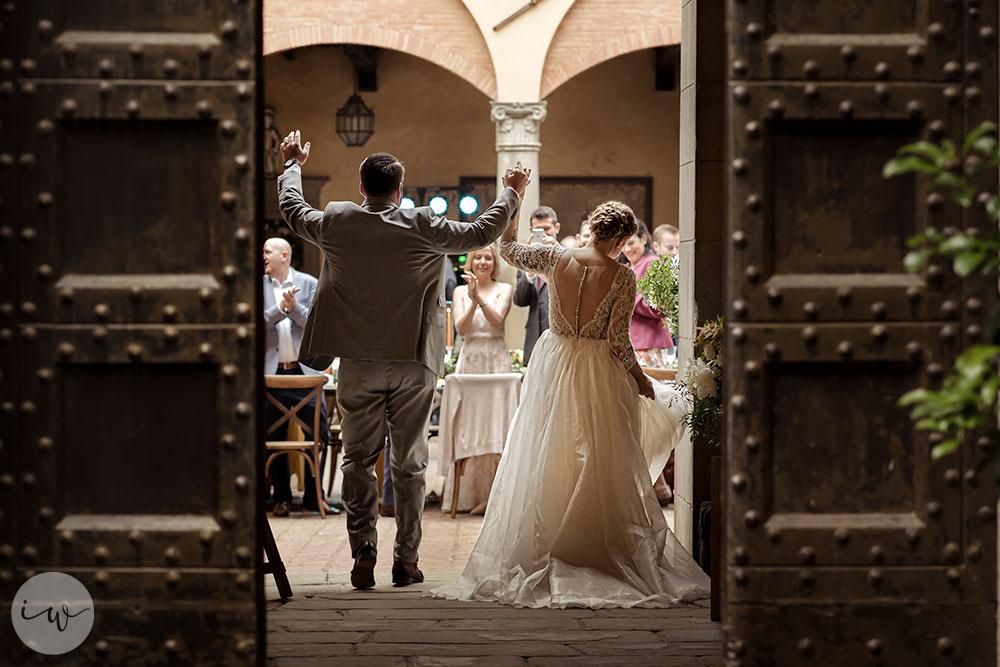 Catholic wedding Florence and Castle reception Chianti