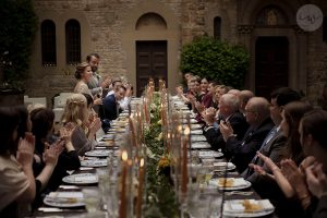 Catholic wedding Florence and Castle reception Chianti