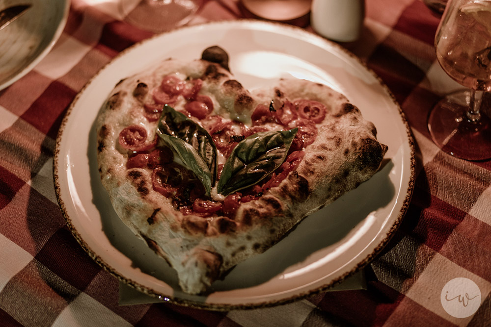 Wedding blessing in Montepulciano Tuscany rehearsal meal pizza
