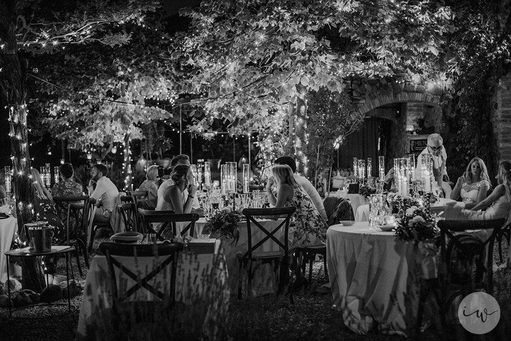 blessing in Montepulciano Tuscany wedding lights