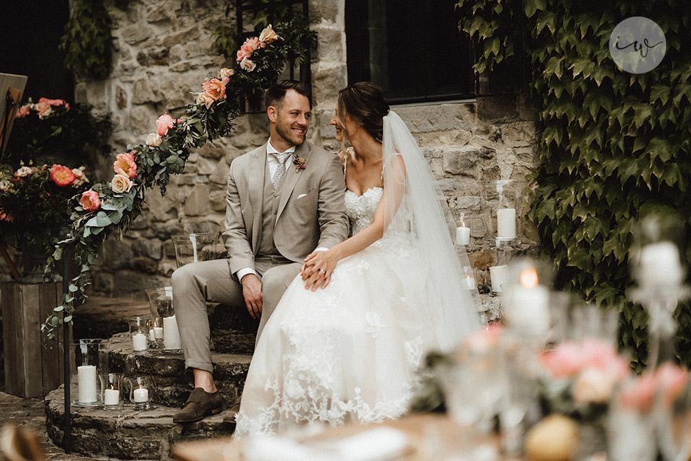 Wedding blessing in Umbria