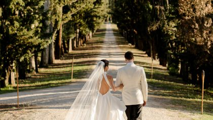Catholic wedding in Tuscany and reception at Borgo Stomennano