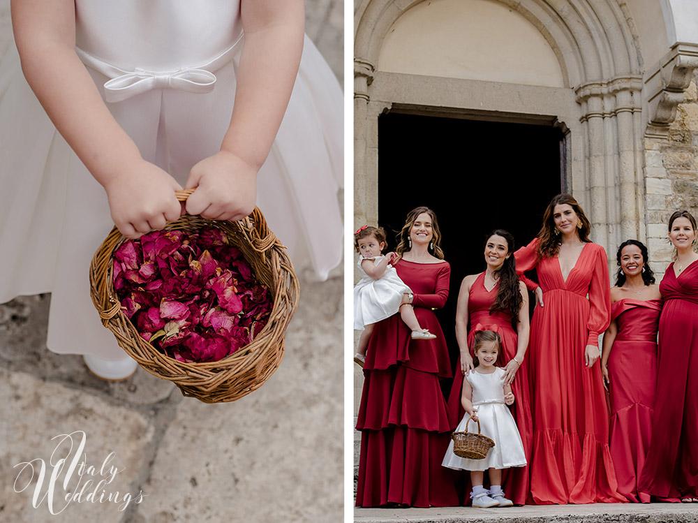 Catholic wedding in Tuscany and reception at Borgo Stomennano