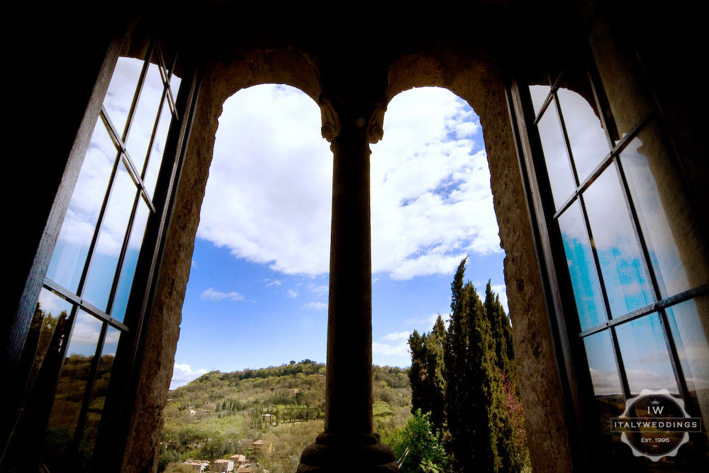 Medieval abbey wedding location Umbria